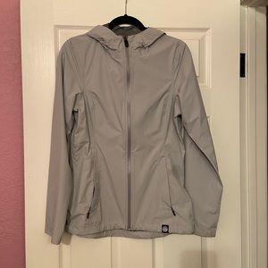 🌧REI Soft-Shell Rain Jacket, XS, Light Grey🌧